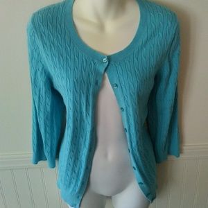 Tommy Hilfiger chunky knit blue cardigan XL